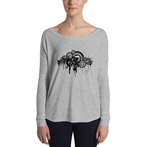 Music Talks Grey Splat Womens' T-Shirt