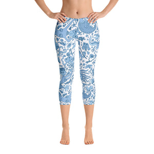 Swimming Mermaid Capri Leggings