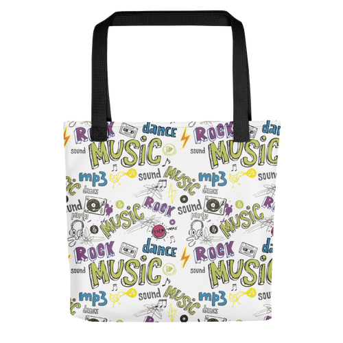 Graffiti Music Tote Bag