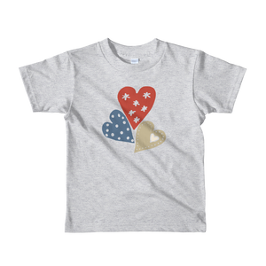 Patch Heart Short Sleeve Kids T-shirt