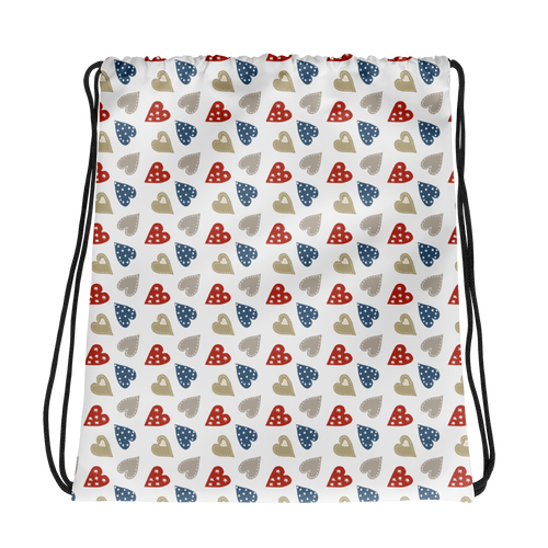 Patch Heart Drawstring Bag