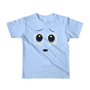 Worried Face Short Sleeve Kids T-shirt