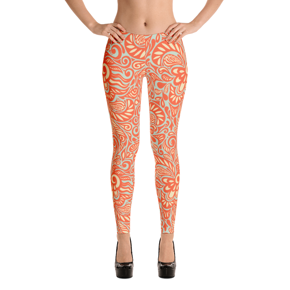 Orange Womens Leggings