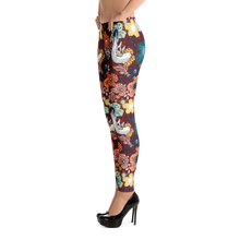Red Bird Flower Leggings