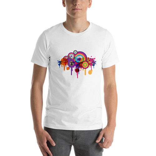 Music Talks Coloured Splat Unisex T-Shirt