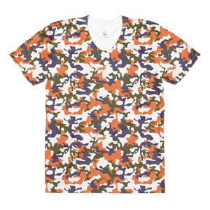 Orange Commando women's crew neck t-shirt