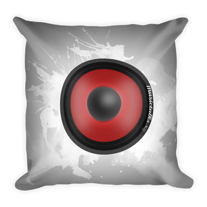 Music Talks Speaker Square Pillow