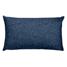Blue Swirl Rectangular Pillow