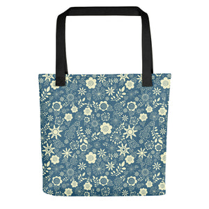 Winter Floral Tote bag