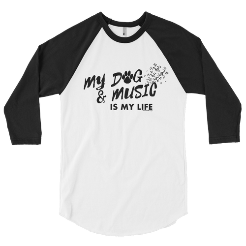 My Dog & Music Raglan T-Shirt