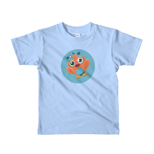 Orange Tweety Short Sleeve Kids T-shirt