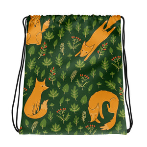 Fox On The Run Drawstring bag