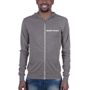 Music Talks Unisex Zip Hoodie