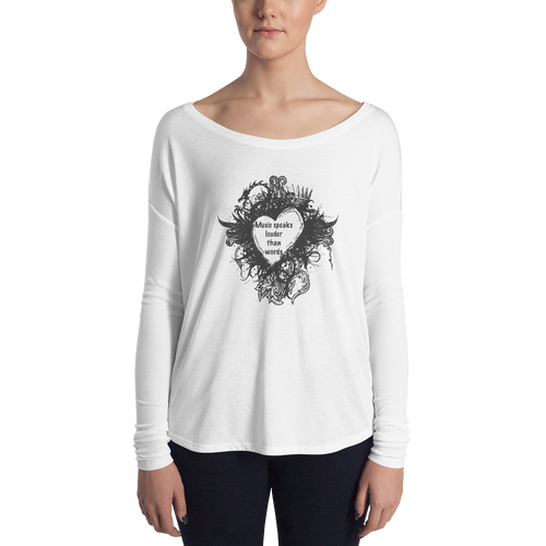 relaxed long sleeve womens t-shirt