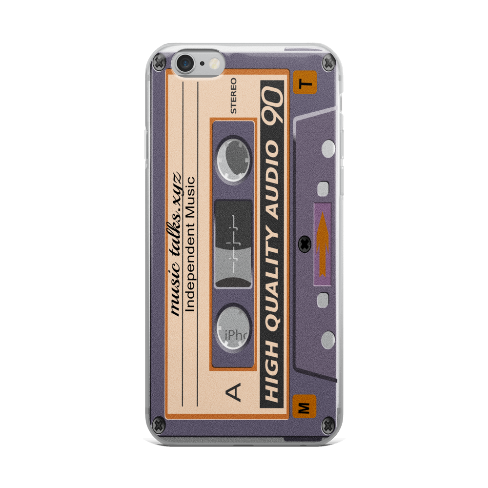 Purple Cassette Design Phone Case