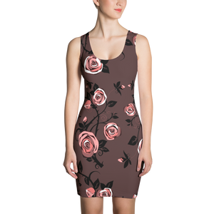 Womens Fitted Rose Dress