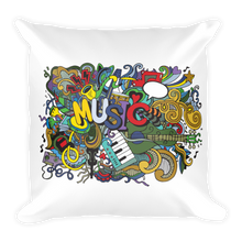 Music Jam Square Throw Pillow
