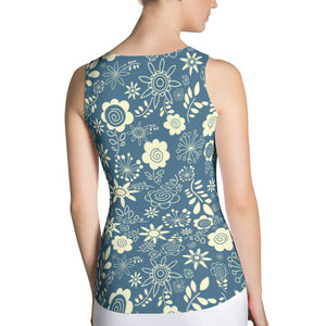 Winter Flower Fitted Tank
