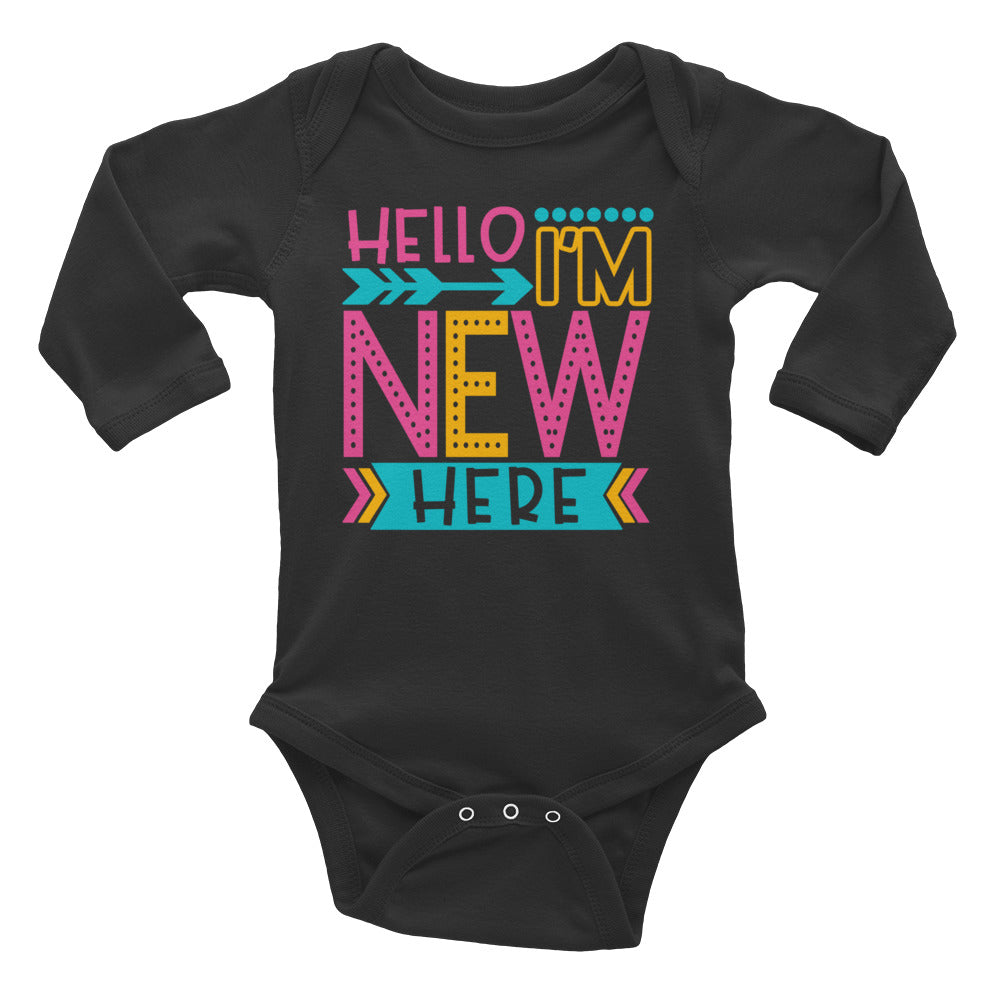 New Here Infant Bodysuit