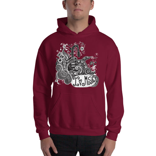 I Love Music Hooded Sweatshirt
