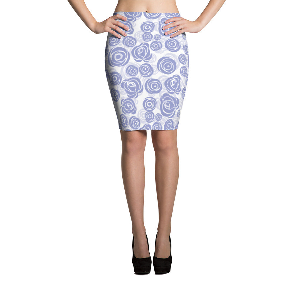 Lilac Rose Pencil Skirt