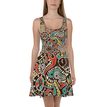 Womens Flared Skater Dress