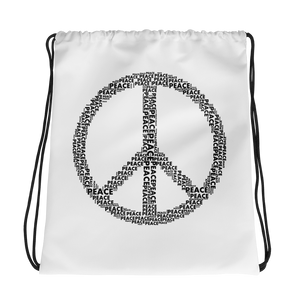 Peace Drawstring Bag