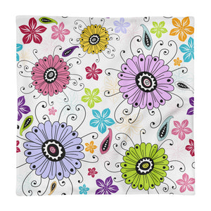 Spring Flower Square Pillow Case only