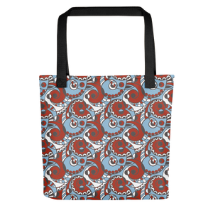 Red and Blue Swirl Tote Bag
