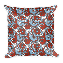 Swirl Square Throw Pillow