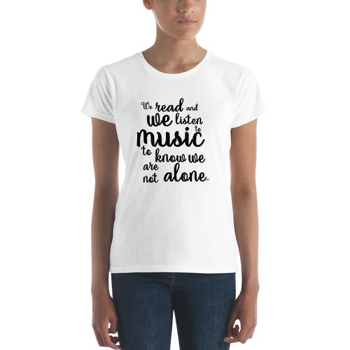 We Read And We Listen To Music Womens Tee