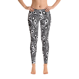 Black & White Tear Drop Leggings