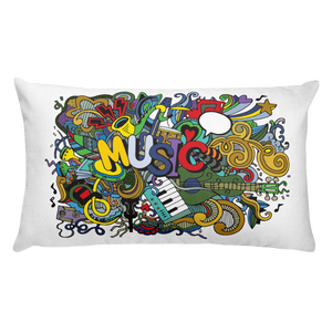 Music Jam Rectangular Throw Pillow