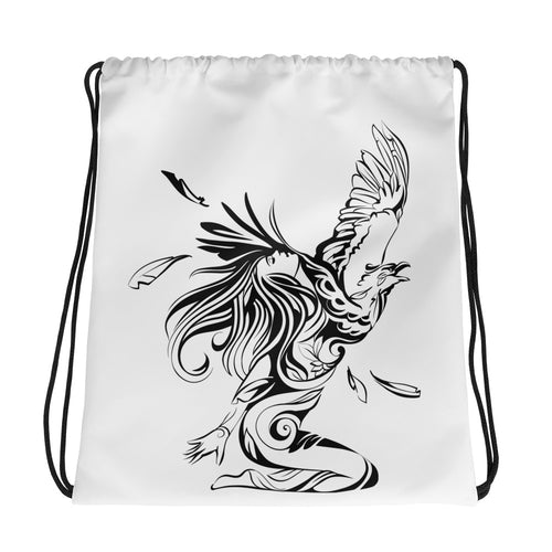 Bird Girl Drawstring bag