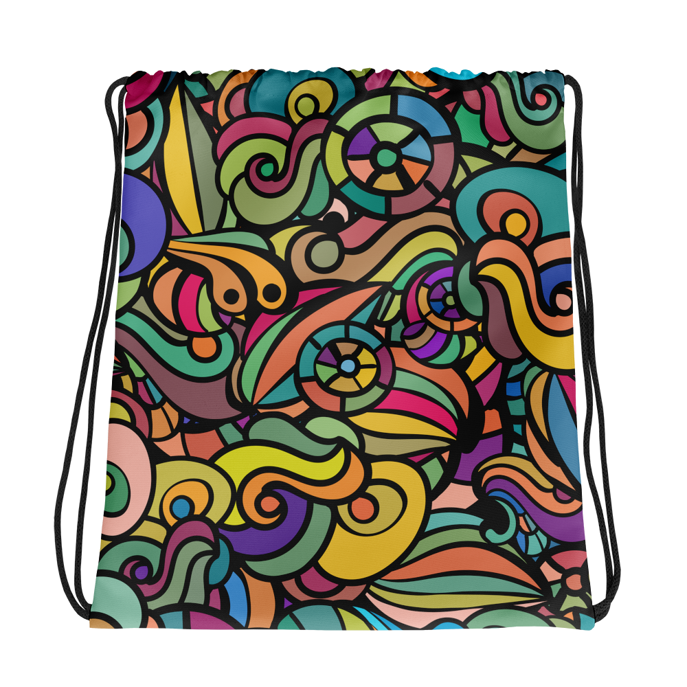 Trendy Colourful Drawstring Bag