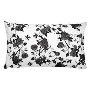 Roses Rectangular Throw Pillow