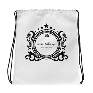 Music Talks Drawstring Bag
