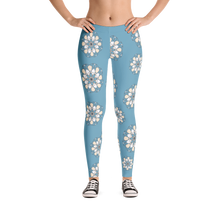 Patterned Blue Womens Leggings
