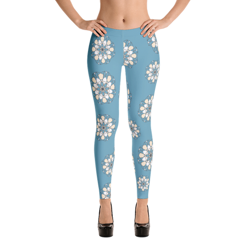 Blue Wheel Leggings