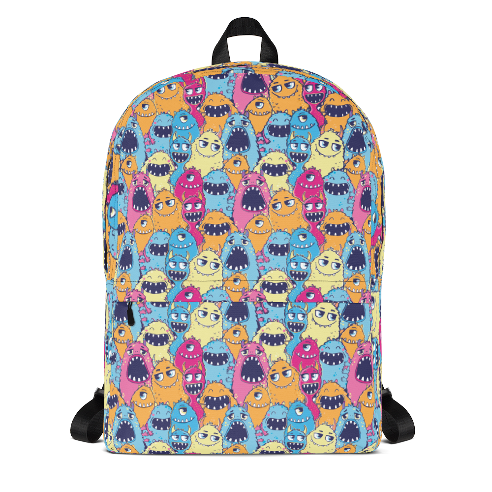 Family Monster Designer Backpack Bag