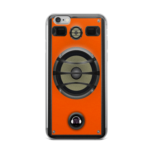 Orange Speaker iPhone Case