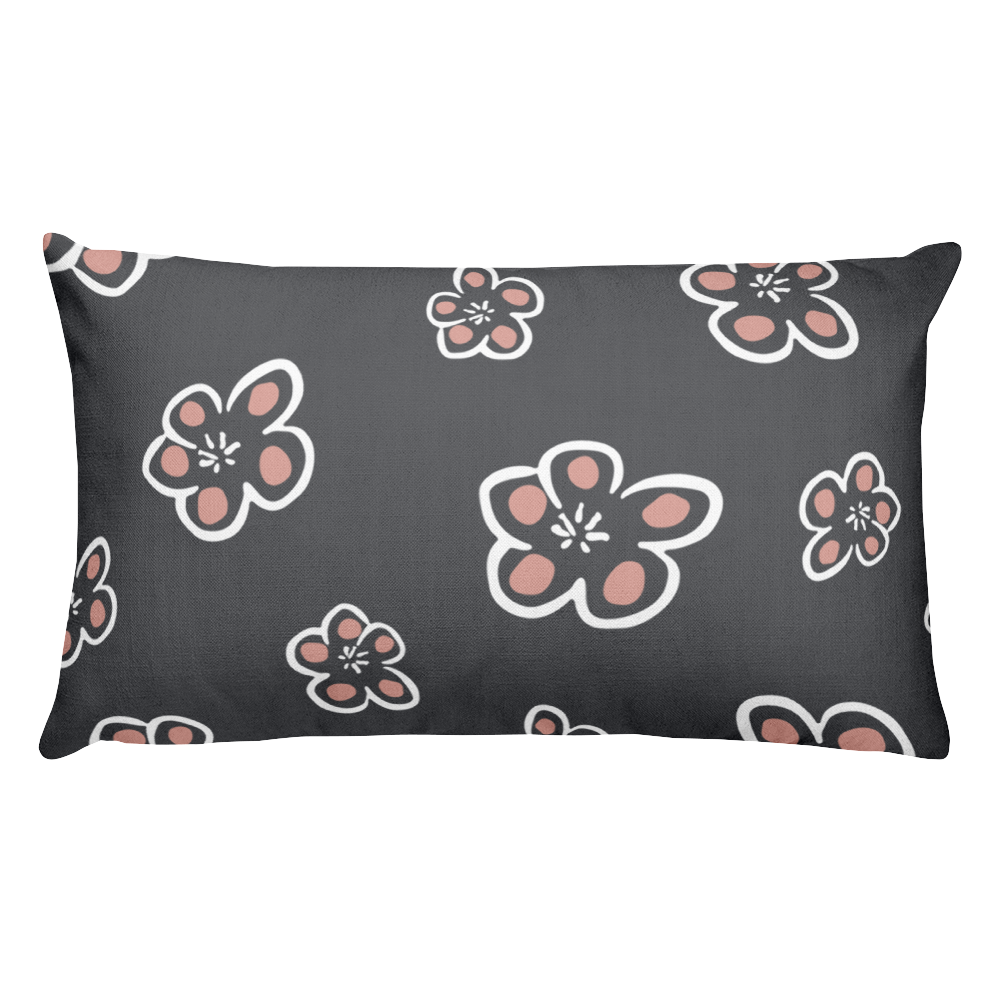 Pretty Flowers Rectangular Throw Pillow