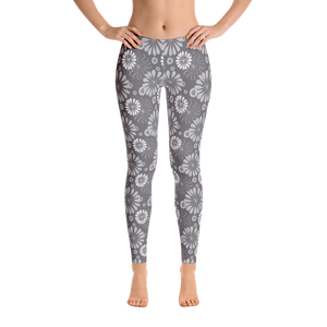Grey Daisy Leggings