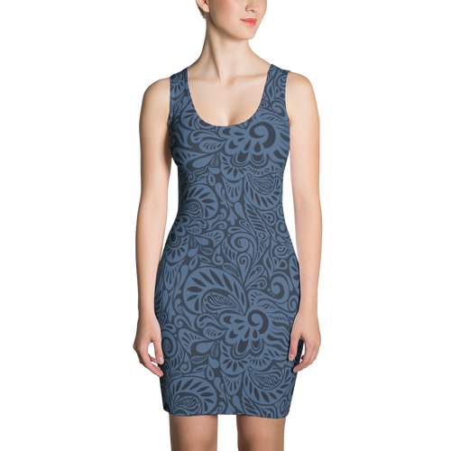 Womens Fitted Sleeveless Dress