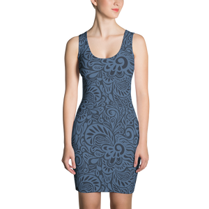 Blue Swirl Dress