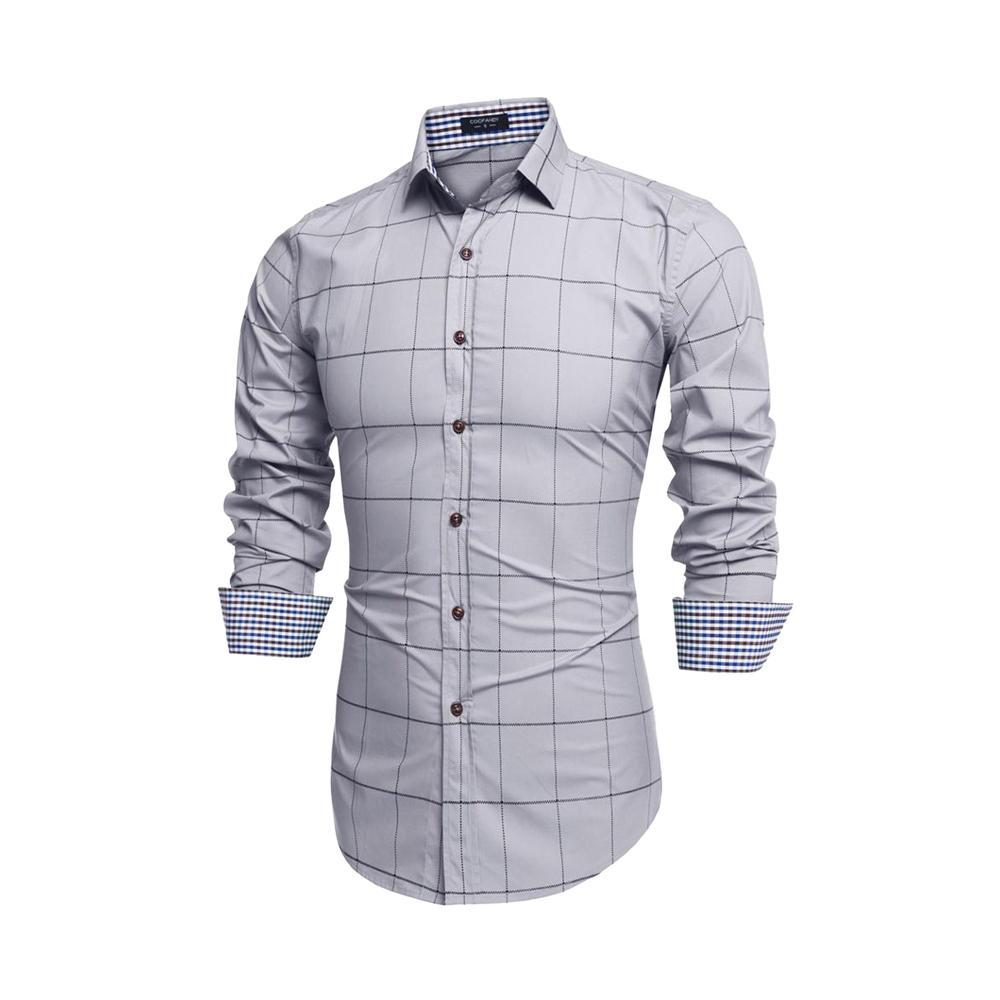 Comb Of 3 Patchwork Classic Long Sleeves Slim Fit Casual Men Shirts