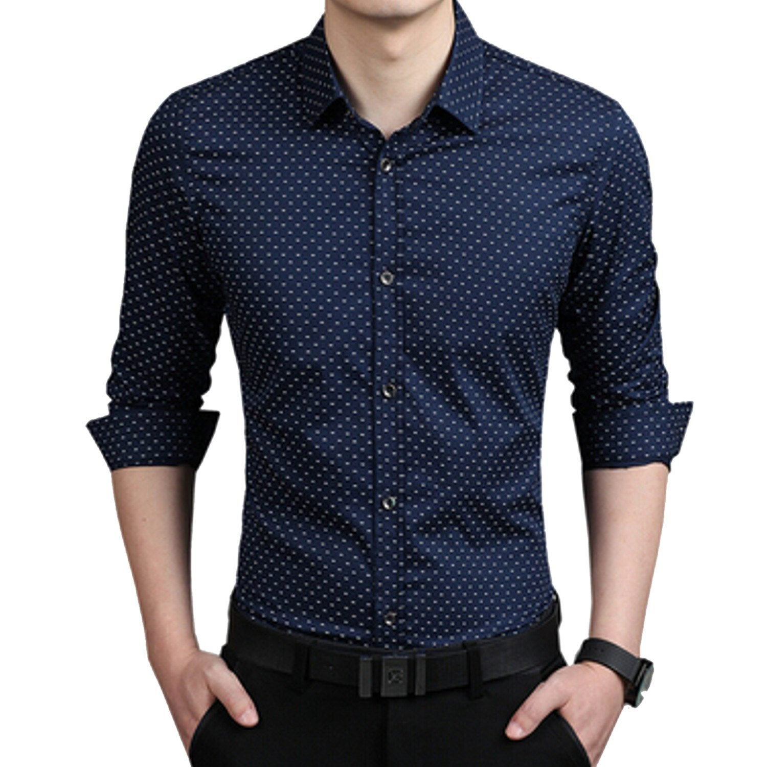 Combo Of 3 Men Shirts With Splash Printed With Long Sleeves
