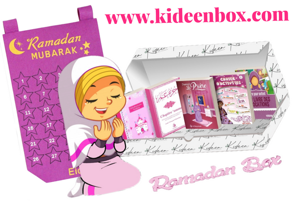 OFFRE SPECIALE  : Ramadan Box - Fille + Calendrier Rose - KIDEEN