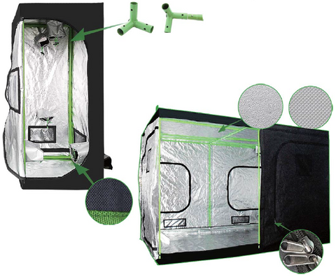 The Hulk Series 120 x 120 x 200cm ( 4 x 4 x 6.5 ft ) Grow Tent - LumaGro