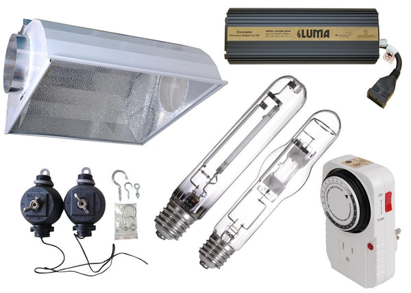 600w Digital Air Cooled Hood Grow Light System - LumaGro